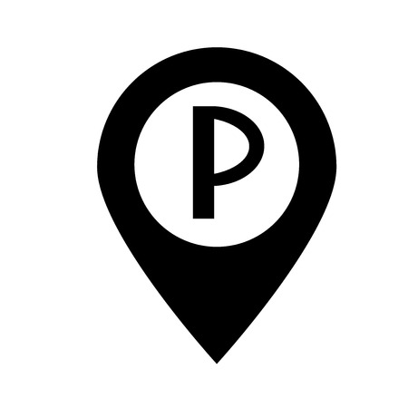 Parking icon vector isolated on white background for your web and mobile app design Stock Illustratie