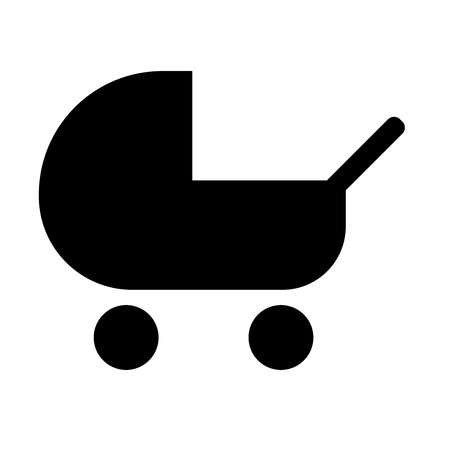 Baby carriage icon vector isolated on white background for your web and mobile app design