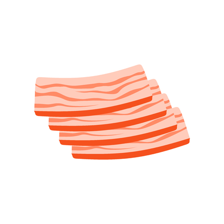 Bacon icon vector isolated on white background for your web and mobile app design Ilustração