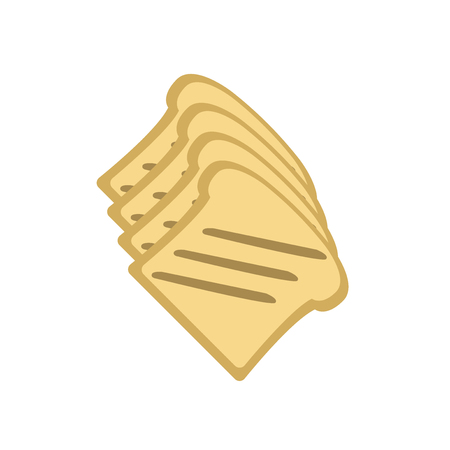Toast icon vector isolated on white background for your web and mobile app design