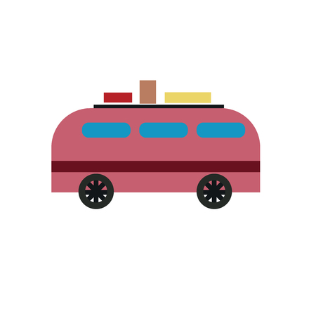 Minivan icon vector isolated on white background for your web and mobile app design, Minivan icon concept