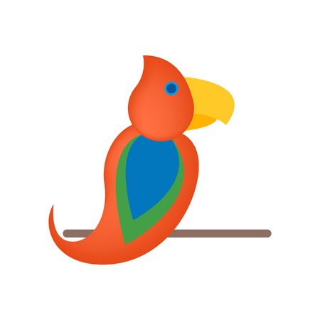 Parrot icon vector isolated on white background for your web and mobile app design, Parrot icon concept