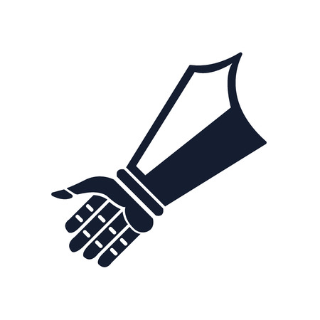 Handschuh-Symbolvektor lokalisiert auf weißem Hintergrund für Ihr Web- und mobiles App-Design