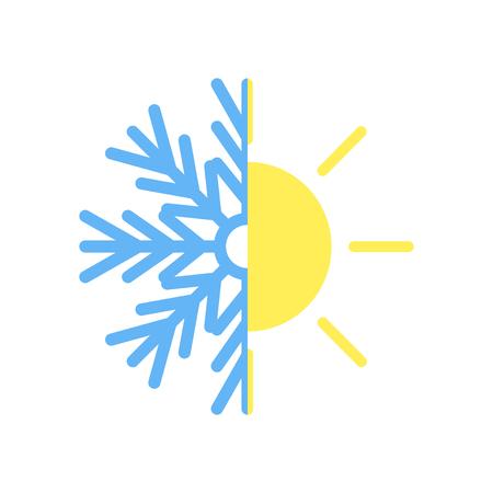 Heizungsikonenvektor lokalisiert auf weißem Hintergrund für Ihr Web- und Mobilanwendungsdesign, Heizungsikonenkonzept