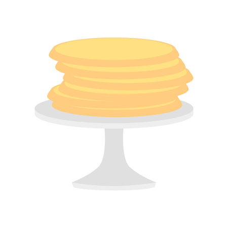 Pancakes icon vector isolated on white background for your web and mobile app design, Pancakes icon concept Çizim