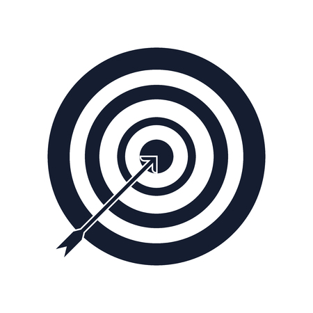 Archery icon vector isolated on white background for your web and mobile app design, Archery icon concept Illustration