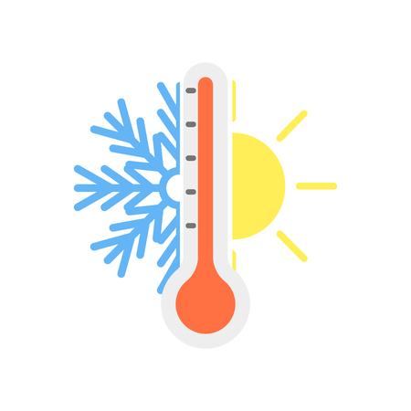 Thermostat-Symbolvektor lokalisiert auf weißem Hintergrund für Ihr Web- und mobiles App-Design, Thermostat-Symbolkonzept