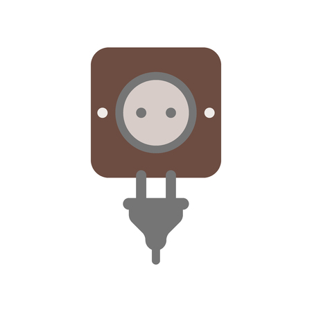 Plug icon vector isolated on white background for your web and mobile app design Фото со стока - 107567580