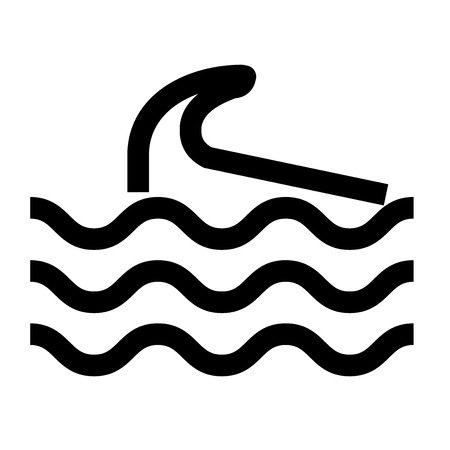 Wave icon vector isolated on white background for your web and mobile app design