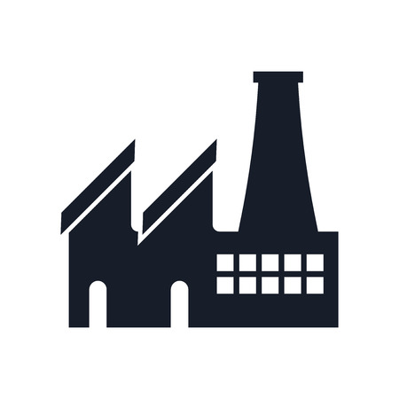 Factory icon vector isolated on white background for your web and mobile app design Ilustração