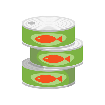 Canned food icon vector isolated on white background for your web and mobile app design Archivio Fotografico - 107567679