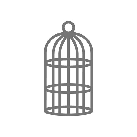 Cage icon vector isolated on white background for your web and mobile app design.