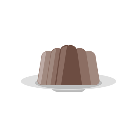 Pudding icon vector isolated on white background for your web and mobile app design 向量圖像