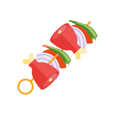 Kebab icon vector isolated on white background for your web and mobile app design, Kebab icon concept Illustration