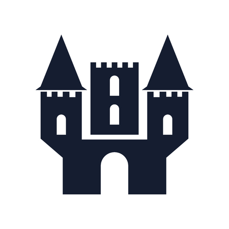 Castle icon vector isolated on white background for your web and mobile app design  イラスト・ベクター素材