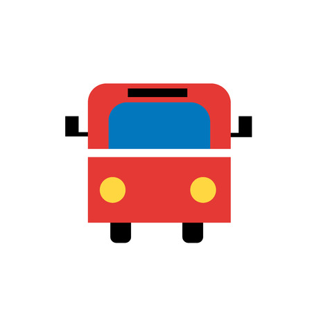 Bus icon vector isolated on white background for your web and mobile app design