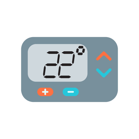Thermostat icon vector isolated on white background for your web and mobile app design Ilustracja