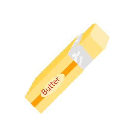 Butter-Ikonenvektor lokalisiert auf weißem Hintergrund für Ihr Web- und mobiles App-Design Vektorgrafik