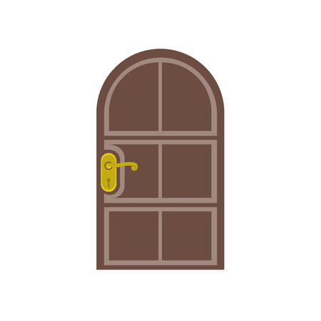 Door icon vector isolated on white background for your web and mobile app design