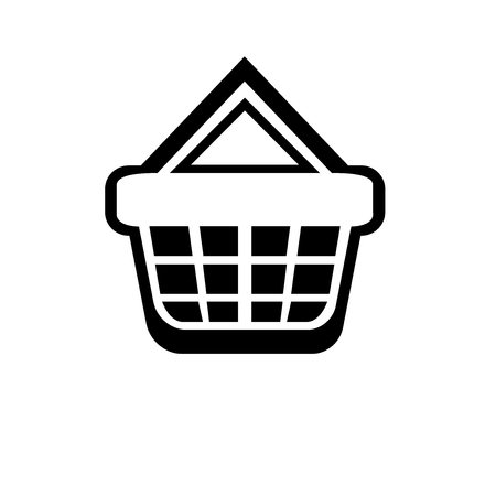 Shopping basket icon vector isolated on white background for your web and mobile app design