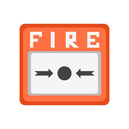 Fire alarm icon vector isolated on white background for your web and mobile app design Ilustração