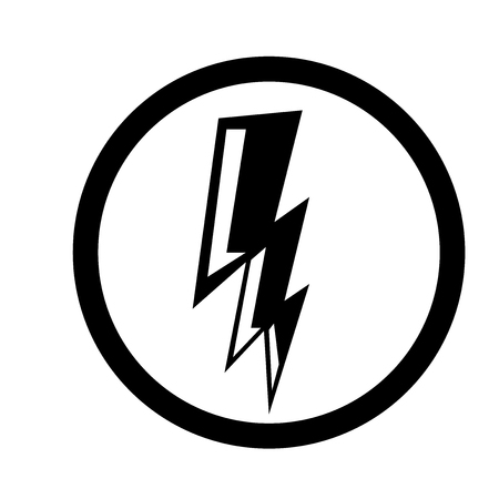 Electricity icon vector isolated on white background for your web and mobile app design Banque d'images - 107574305