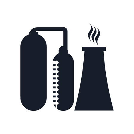 Refinery icon vector isolated on white background for your web and mobile app design Ilustração