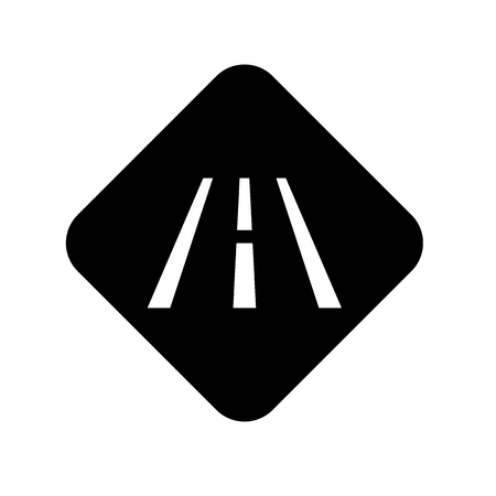 Road icon vector isolated on white background for your web and mobile app design Illustration