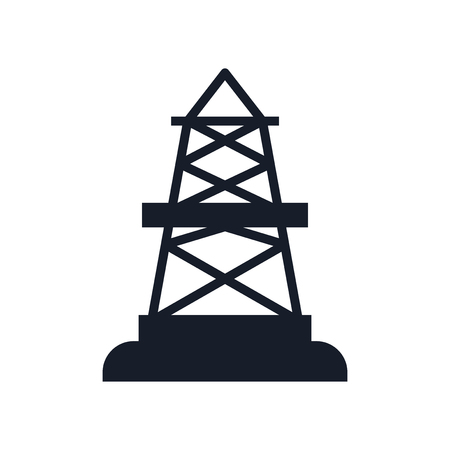 Oilfield icon vector isolated on white background for your web and mobile app design Ilustrace