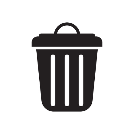 Garbage icon vector isolated on white background for your web and mobile app design