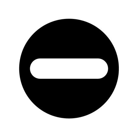 prohibida icono del vector aislado en el fondo blanco para su diseño web y aplicaciones móviles