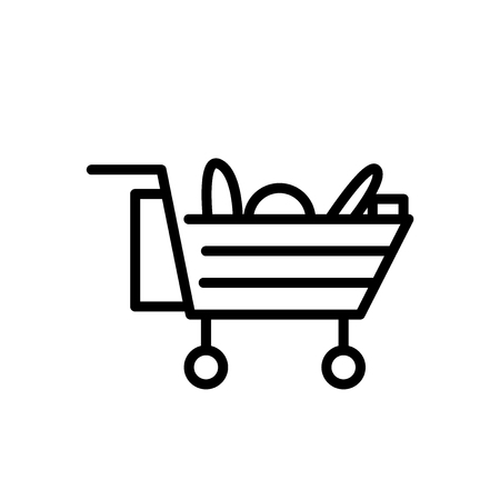 Cart icon vector isolated on white background, Cart transparent sign , line or linear sign, element design in outline style Archivio Fotografico - 111597948