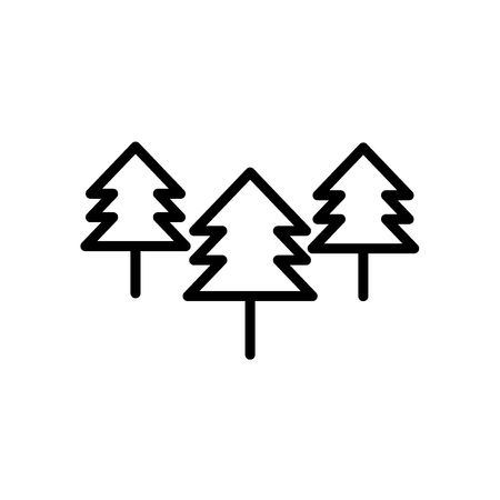 Trees icon vector isolated on white background, Trees transparent sign , line or linear sign, element design in outline style