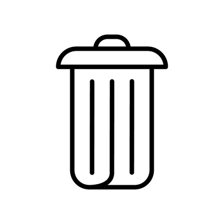 Bin icon vector isolated on white background, Bin transparent sign , line and outline elements in linear style