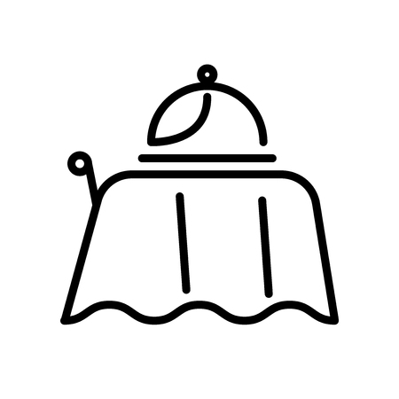 Room service icon vector isolated on white background, Room service transparent sign , line and outline elements in linear style Banque d'images - 111597964