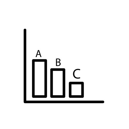 Bar chart icon vector isolated on white background, Bar chart transparent sign , line and outline elements in linear style
