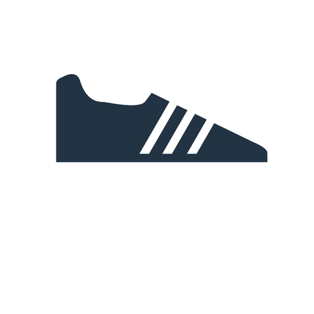 Shoe icon vector isolated on white background, Shoe transparent sign