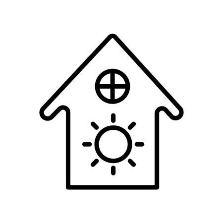 House icon vector isolated on white background, House transparent sign , line and outline elements in linear style Ilustração