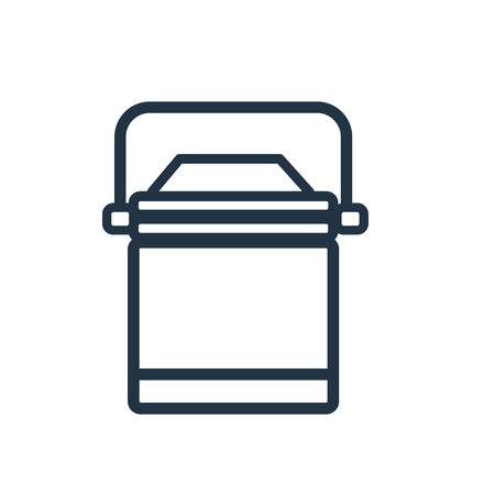 Lunchbox icon vector isolated on white background, Lunchbox transparent sign Illustration