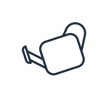 Watering Can icon vector isolated on white background, Watering Can transparent sign  イラスト・ベクター素材