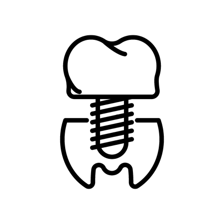 Premolar icon vector isolated on white background, Premolar transparent sign , line and outline elements in linear style Illustration