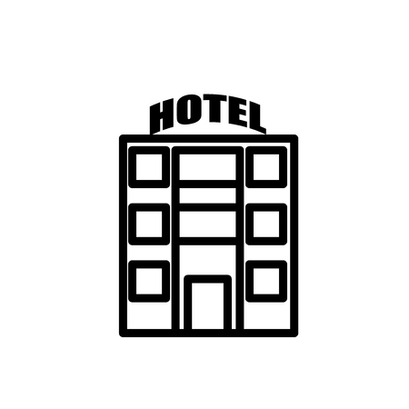 Motel icon vector isolated on white background, Motel transparent sign , line or linear sign, element design in outline style
