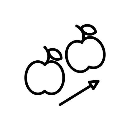 Icona di gravità vettoriale isolato su sfondo bianco, segno trasparente di gravità, linea e elementi di struttura in stile lineare