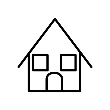 Bungalow icon vector isolated on white background, Bungalow transparent sign , line or linear sign, element design in outline style  イラスト・ベクター素材