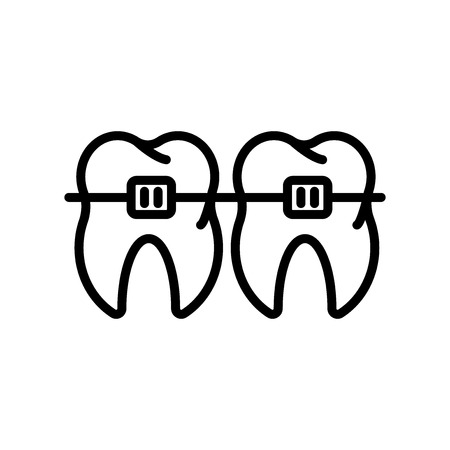 Braces icon vector isolated on white background, Braces transparent sign , line and outline elements in linear style