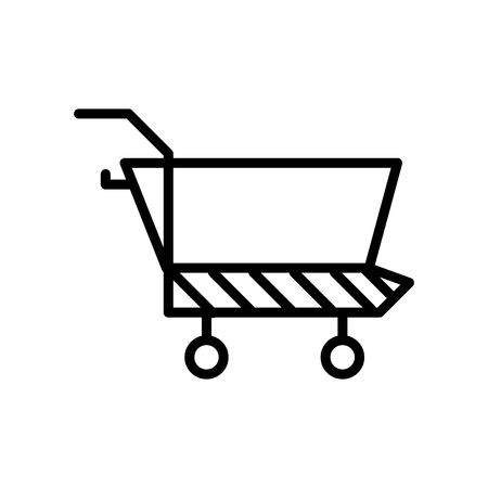Cart icon vector isolated on white background, Cart transparent sign , line or linear sign, element design in outline style Archivio Fotografico - 111598108