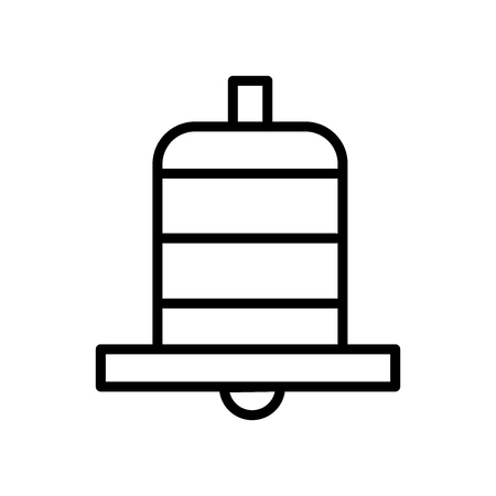 Bell icon vector isolated on white background, Bell transparent sign , line and outline elements in linear style