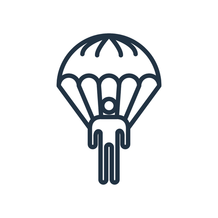 Parachuting icon vector isolated on white background, Parachuting transparent sign