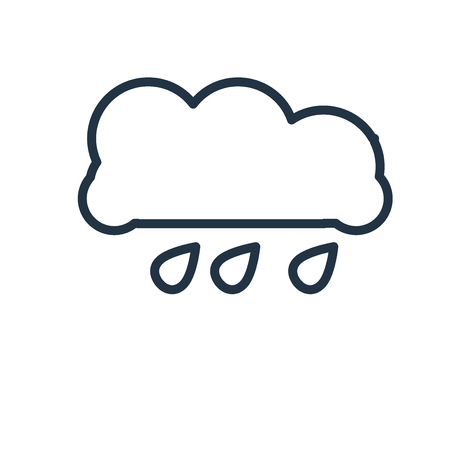 Rain icon vector isolated on white background, Rain transparent sign