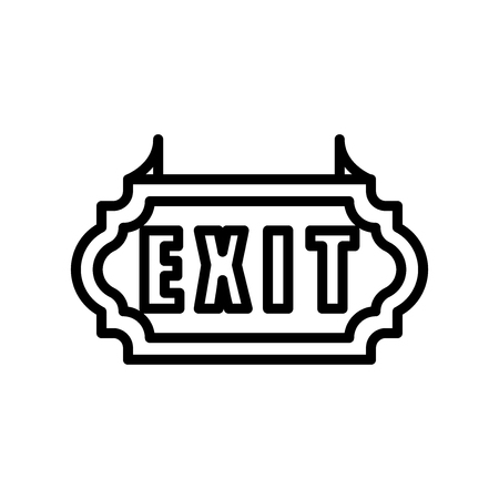 Exit icon vector isolated on white background, Exit transparent sign , line and outline elements in linear style